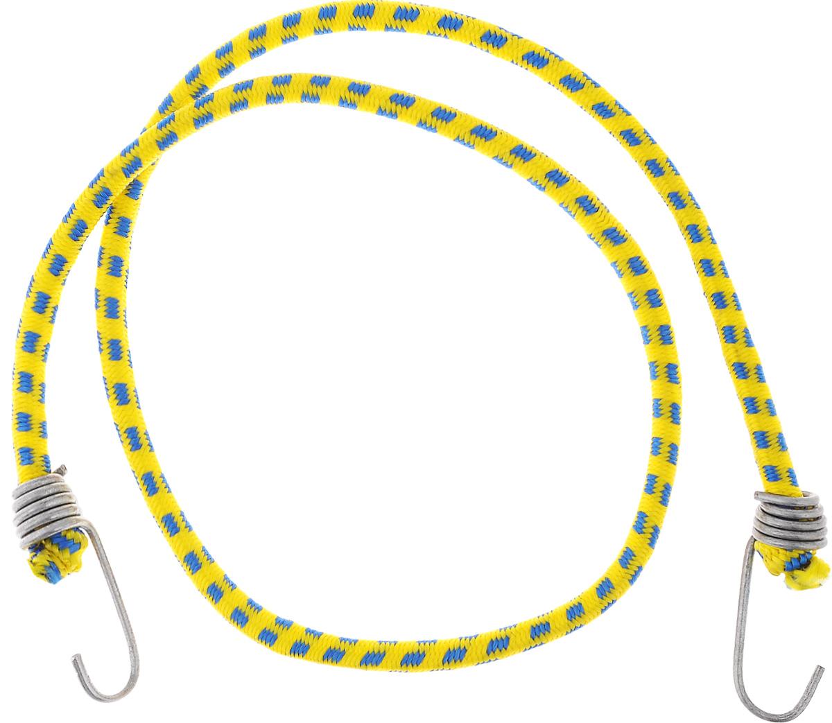 Резинка багажная МастерПроф, с крючками, цвет: желтый, синий, 0,10 х 110 см. АС.020023WH18DSDLБагажная резинка МастерПроф, выполненная из синтетического каучука, оснащена специальными металлическими крюками, которые обеспечивают прочное крепление и не допускают смещения груза во время его перевозки. Применяется для закрепления предметов к багажнику. Такая резинка позволит зафиксировать как небольшой груз, так и довольно габаритный.Материал: синтетический каучук.Температура использования: -15°C до +50°C.Безопасное удлинение: 60%.Диаметр резинки: 0,10 см.Длина резинки: 110 см.
