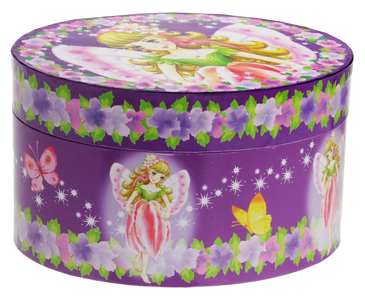 """Чудесная музыкальная шкатулка """"Овал"""" станет великолепным подарком, а ее сказочный мотив создаст поистине волшебное настроение. Выполненная из дерева, овальной формы, с глянцевым бумажным покрытием, шкатулка оформлена изображением прекрасной балерины. Внутри шкатулки одно отделение для хранения разнообразных вещиц, небольшое зеркальце и фигурка балерины, которая при открывании крышки начинает плавно кружиться и играет приятная мелодия. Шкатулка снабжена металлическим механическим заводом, внутренняя поверхность отделана нежным бархатистым материалом."""