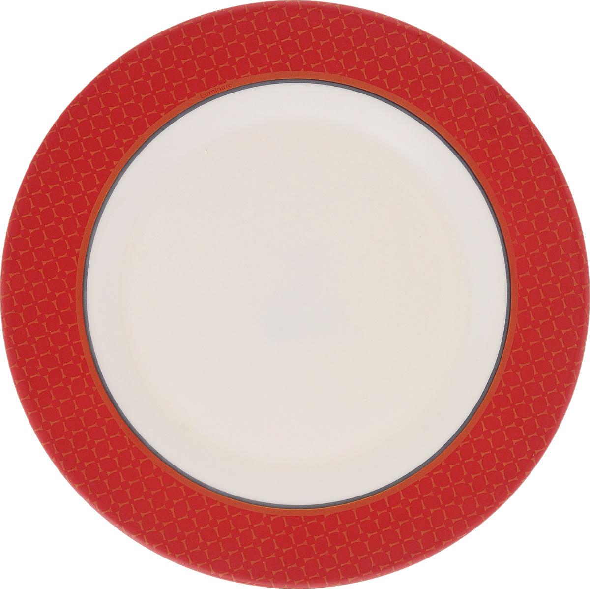 Тарелка десертная Luminarc Alto Rubis, 20,5 смVT-1520(SR)Десертная тарелка Luminarc Alto Rubis, изготовленная из ударопрочного стекла, имеет изысканный внешний вид. Такая тарелка прекрасно подходит как для торжественных случаев, так и для повседневного использования. Идеальна для подачи десертов, пирожных, тортов и многого другого. Она прекрасно оформит стол и станет отличным дополнением к вашей коллекции кухонной посуды. Диаметр тарелки (по верхнему краю): 20,5 см.