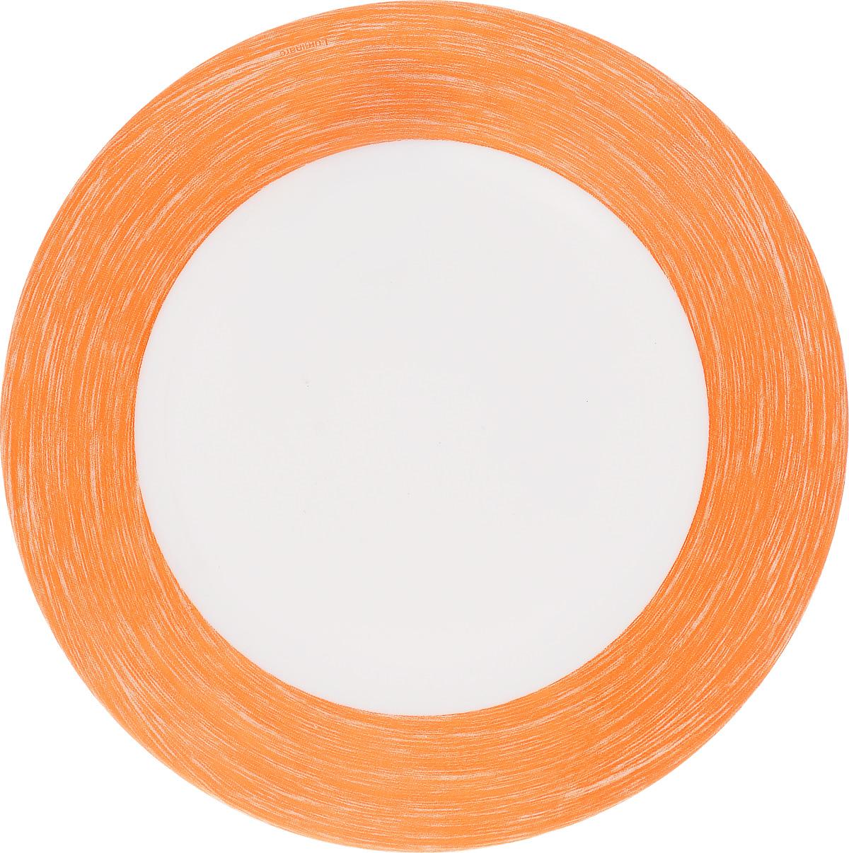 Тарелка десертная Luminarc Color Days Orange, диаметр 19 смFS-91909Десертная тарелка Luminarc Color Days Orange, изготовленная из ударопрочного стекла, имеет изысканный внешний вид. Такая тарелка прекрасно подходит как для торжественных случаев, так и для повседневного использования. Идеальна для подачи десертов, пирожных, тортов и многого другого. Она прекрасно оформит стол и станет отличным дополнением к вашей коллекции кухонной посуды. Диаметр тарелки (по верхнему краю): 19 см.