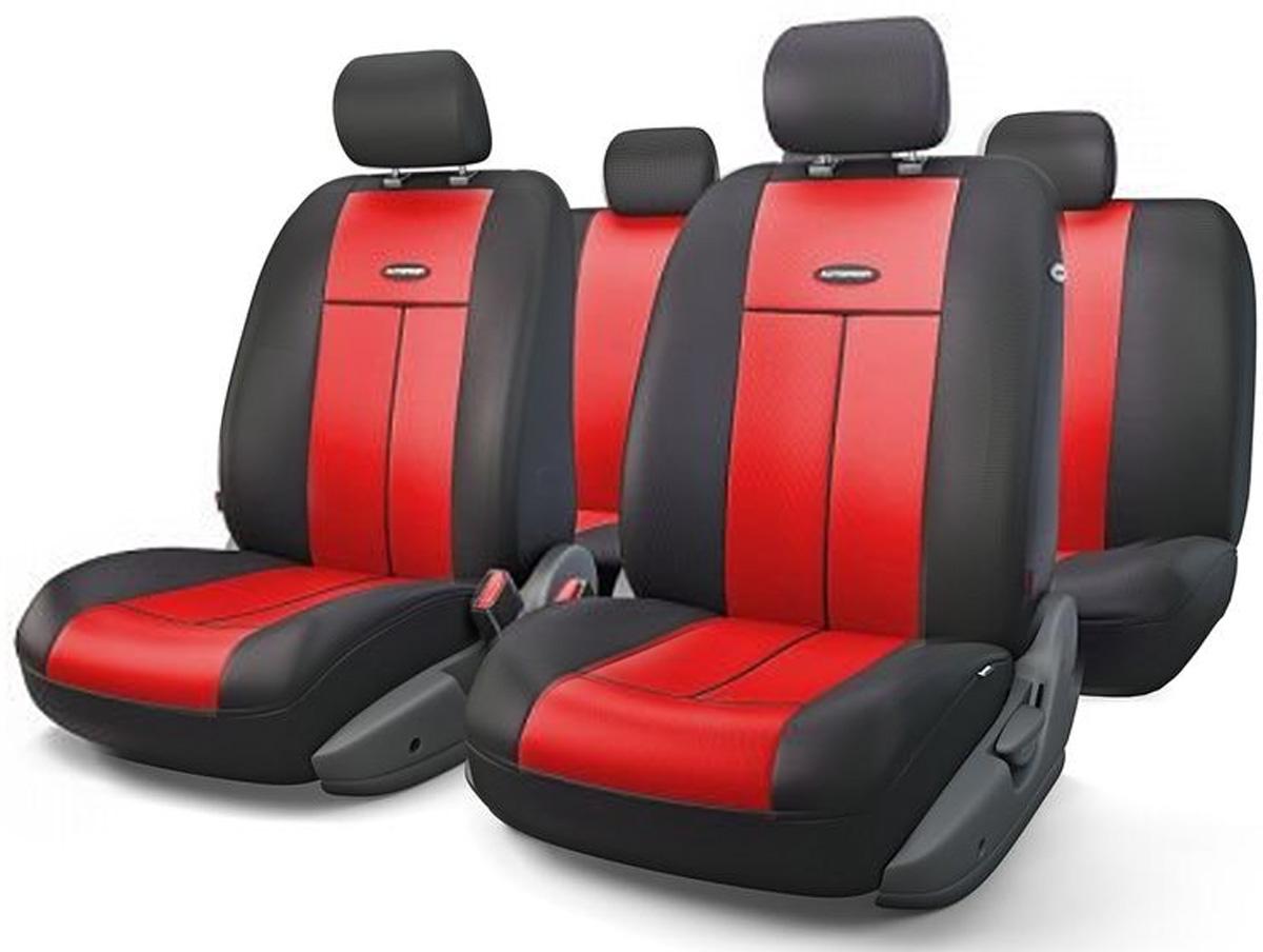 Авточехлы Autoprofi TT, цвет: черный, красный, 9 предметов. TT-902V BK/RDVT-1520(SR)Автомобильные чехлы Autoprofi TT изготавливаются из высококачественного полиэстера со вставками из поролона, обеспечивающего сцепление с сиденьем. Мягкие чехлы являются отличным дополнением салона любого автомобиля. Изделия придают автомобильному интерьеру современные и солидные черты.Универсальная конструкция подходит для большинства автомобильных сидений. Подходят для автомобилей с боковыми подушками безопасности (распускаемый шов).Специальные молнии, расположенные в чехлах спинки заднего ряда, позволяют использовать чехлы на автомобилях с различными пропорциями складывания заднего ряда.Комплектация: 5 подголовников, 2 чехла сидений переднего ряда, 1 спинка заднего ряда, 1 сиденье заднего ряда.