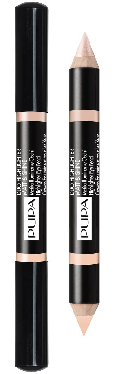 Pupa Хайлайтер для век DUO HIGHLIGHTER MATT&SHINE № 002 розовый, 4,2 г40810Хайлайтер для век DUO HIGHLIGHTER MATT&SHINE. Карандаш – хайлайтер для расстановки световых акцентов в макияже. Придает законченность и четкость макияжу. Двусторонний: два рабочих грифеля: матовый и перламутровый эффект. Формула: Специальное сочетание восков и масел придают продукту смягчающие свойства и обеспечивают легкое и равномерное нанесение. Высокая плотность текстуры позволяет добиваться профессионального результата.