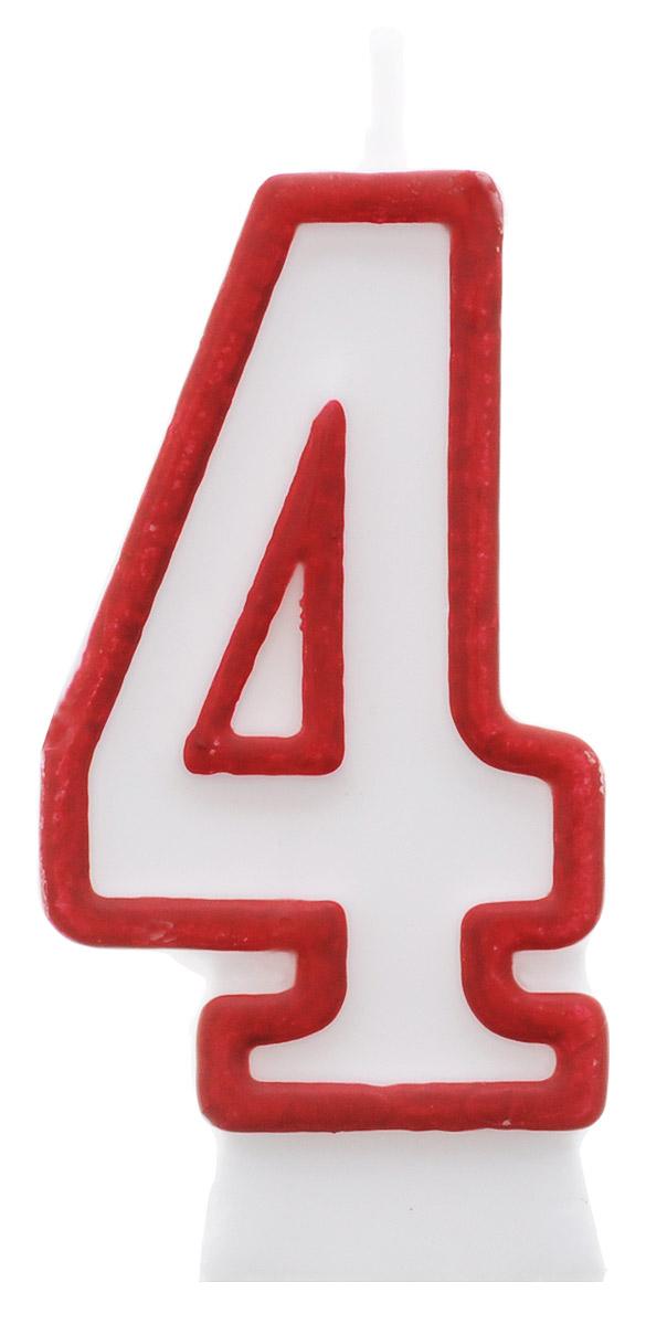 """Свеча-цифра для торта """"Susy Card"""" изготовлена из высококачественного парафина в виде цифры """"4"""". Это отличное решение для декорирования торта к празднику. Ее можно комбинировать с другими цифрами. Изделие хорошо и долго горит. С этой свечой ваш праздник станет еще удивительнее и веселее."""