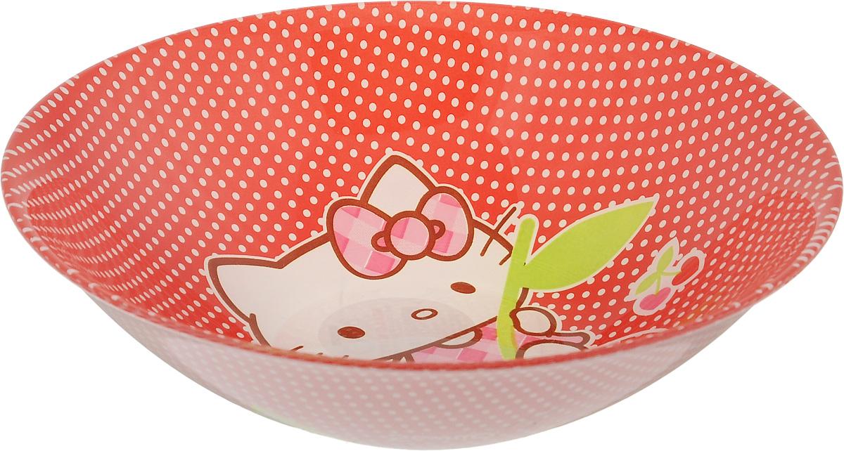 Салатник Luminarc Hello Kitty Cherries, диаметр 16,5 см391602Великолепный круглый салатник Luminarc Hello Kitty Cherries, изготовленный из ударопрочного стекла, прекрасно подойдет для подачи различных блюд: закусок, салатов или фруктов. Такой салатник украсит ваш праздничный или обеденный стол, а оригинальное исполнение понравится любой хозяйке. Диаметр салатника (по верхнему краю): 16,5 см.