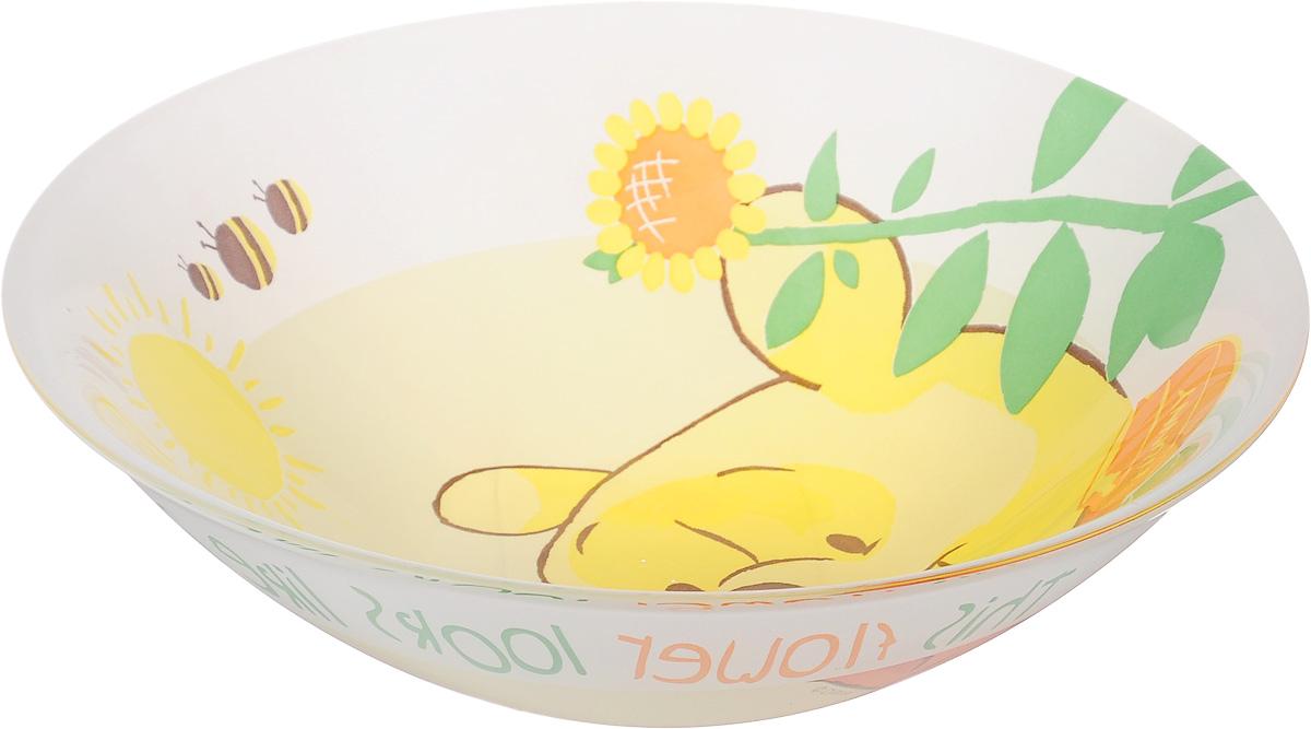 Миска Luminarc Winnie Garden, диаметр 16 см54 009312Миска Luminarc Winnie Garden выполнена из высококачественного стекла. Благодаря оригинальному дизайну, она понравится вашим детям. Изделие прекрасно впишется в интерьер вашей кухни и станет достойным дополнением к кухонному инвентарю. Миска Winnie Garden подчеркнет прекрасный вкус хозяйки и станет отличным подарком. Диаметр миски (по верхнему краю): 16 см.
