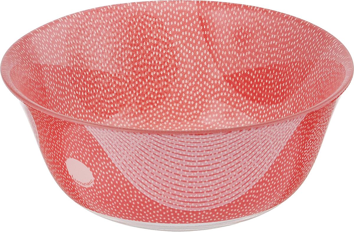 Салатник Luminarc Constellation Red, диаметр 12 см115510Великолепный круглый салатник Luminarc Constellation Red, изготовленный из ударопрочного стекла, прекрасно подойдет для подачи различных блюд: закусок, салатов или фруктов. Такой салатник украсит ваш праздничный или обеденный стол, а оригинальное исполнение понравится любой хозяйке. Диаметр салатника (по верхнему краю): 12 см.