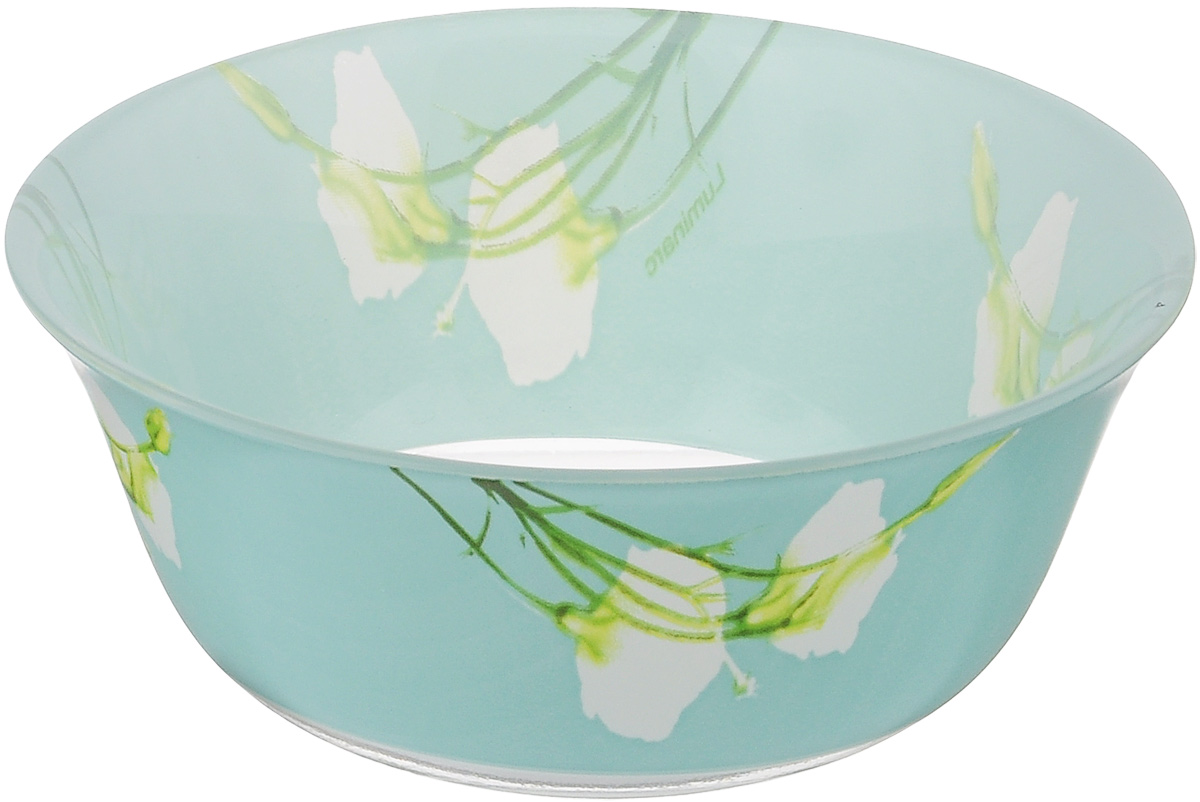 Салатник Luminarc Sofiane Blue, диаметр 12 см115510Великолепный круглый салатник Luminarc Sofiane Blue, изготовленный из ударопрочного стекла, прекрасно подойдет для подачи различных блюд: закусок, салатов или фруктов. Такой салатник украсит ваш праздничный или обеденный стол, а оригинальное исполнение понравится любой хозяйке. Диаметр салатника (по верхнему краю): 12 см.