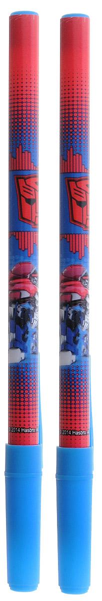 Hasbro Набор шариковых ручек Transformers цвет чернил синий 2 шт730396Шариковая ручка Hasbro Transformers понравится поклонникам трансформеров.Ее корпус выполнен из прочного яркого пластика сине-красного цвета с синим колпачком. Ручка дает аккуратную четкую линию и обеспечивает превосходное качество письма. Чернила быстро сохнут и не размазываются.В наборе 2 ручки.