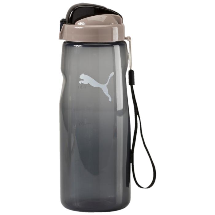 Бутылка для воды Puma Lifestyle, цвет: черный. 05284101SF 0085Бутылка для воды Lifestyle Water Bottle будет по достоинству оценена ведущими активный образ жизни людьми. Выполненная из качественных материалов, она оснащена удобным для питья носиком и ручкой для удобства транспортировки. Незаменима для спортсменов, занимающихся в спортивных залах и на свежем воздухе, бегунов, атлетов. Бутылка рассчитана на жидкости, температура которых не превышает 50°C. Оформлена логотипом Puma Cat.