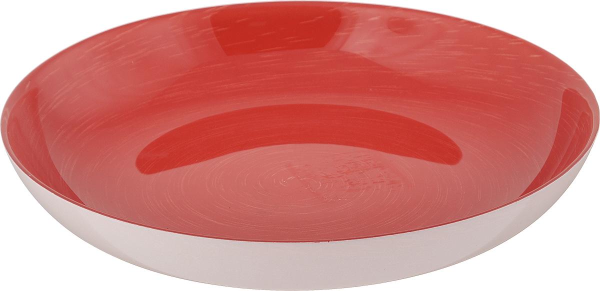 Тарелка глубокая Luminarc Stonemania Red, диаметр 20 см115610Глубокая тарелка Luminarc Stonemania Red выполнена из ударопрочного стекла и имеет классическую круглую форму. Она прекрасно впишется в интерьер вашей кухни и станет достойным дополнением к кухонному инвентарю. Тарелка Luminarc Stonemania Red подчеркнет прекрасный вкус хозяйки и станет отличным подарком. Диаметр тарелки (по верхнему краю): 20 см.