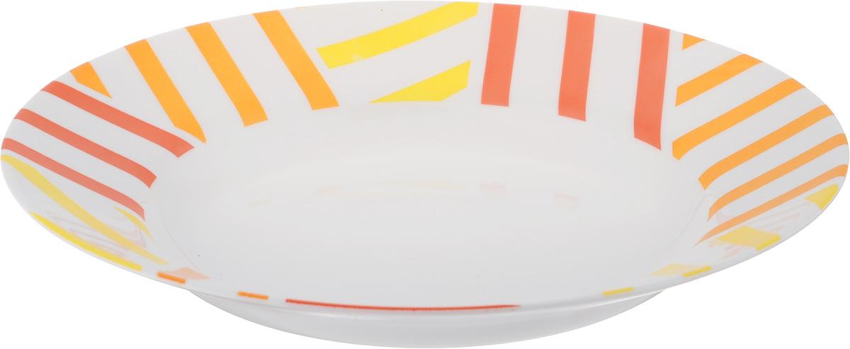 Тарелка глубокая Luminarc Balnea Sun, диаметр 22 см115510Глубокая тарелка Luminarc Balnea Sun выполнена из ударопрочного стекла и имеет классическую круглую форму. Она прекрасно впишется в интерьер вашей кухни и станет достойным дополнением к кухонному инвентарю. Тарелка Luminarc Balnea Sun подчеркнет прекрасный вкус хозяйки и станет отличным подарком. Диаметр тарелки (по верхнему краю): 22 см.
