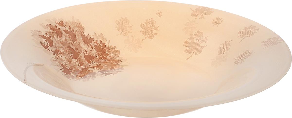 Тарелка глубокая Luminarc Stella Chocolat, диаметр 21,5 смJ1911Глубокая тарелка Luminarc Stella Chocolat выполнена из ударопрочного стекла и украшена изображением цветов. Изделие сочетает в себеизысканный дизайн с максимальной функциональностью. Она прекрасно впишется в интерьер вашей кухни и станет достойным дополнением к кухонному инвентарю. Тарелка Luminarc Stella Chocolat подчеркнет прекрасный вкус хозяйки и станет отличным подарком. Диаметр тарелки (по верхнему краю): 21,5 см.