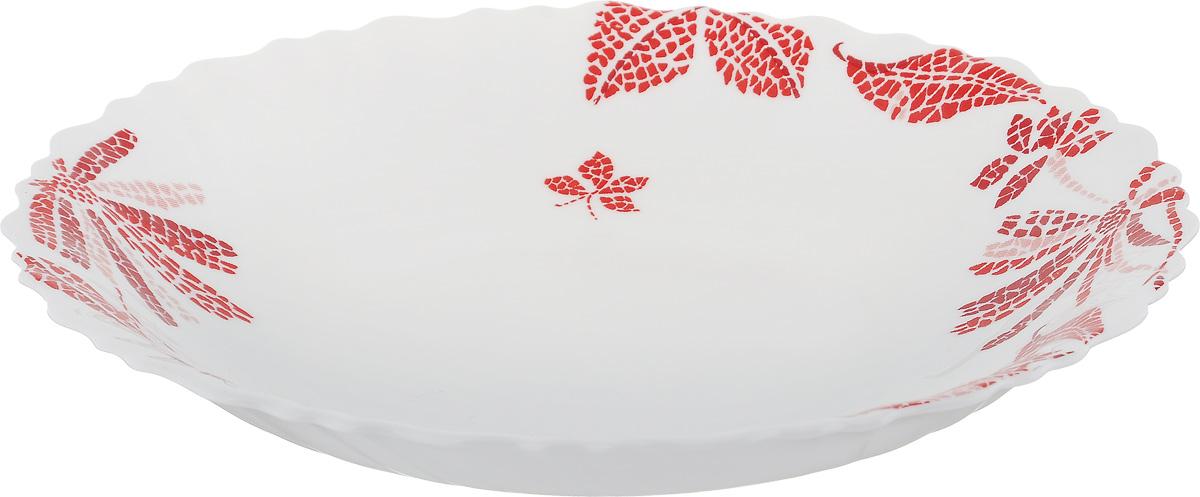 Тарелка глубокая Luminarc Romancia Red, диаметр 21 см115610Глубокая тарелка Luminarc Romancia Red выполнена из ударопрочного стекла и имеет классическую круглую форму. Она прекрасно впишется в интерьер вашей кухни и станет достойным дополнением к кухонному инвентарю. Тарелка Luminarc Romancia Red подчеркнет прекрасный вкус хозяйки и станет отличным подарком. Диаметр тарелки (по верхнему краю): 21 см.