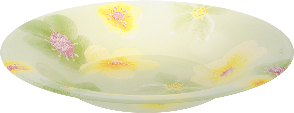 Тарелка глубокая Luminarc Poeme Anis, диаметр 21,5 смFS-91909Глубокая тарелка Luminarc Poeme Anis выполнена из ударопрочного стекла и имеет классическую круглую форму. Она прекрасно впишется в интерьер вашей кухни и станет достойным дополнением к кухонному инвентарю. Тарелка Luminarc Poeme Anis подчеркнет прекрасный вкус хозяйки и станет отличным подарком. Диаметр тарелки (по верхнему краю): 21,5 см.