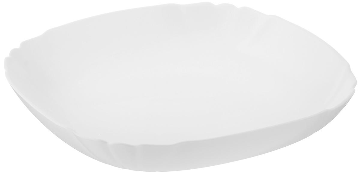 Тарелка глубокая Luminarc Lotusia, 20,5 х 20,5 см1303775Глубокая тарелка Luminarc Lotusia выполнена изударопрочного стекла и оформлена в классическом стиле.Изделие сочетает в себе изысканный дизайн с максимальнойфункциональностью. Она прекрасно впишется винтерьер вашей кухни и станет достойным дополнениемк кухонному инвентарю. Тарелка Luminarc Lotusia подчеркнет прекрасный вкус хозяйкии станет отличным подарком. Размер (по верхнему краю): 20,5 х 20,5 см.