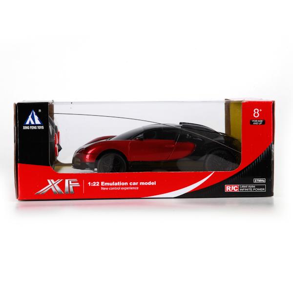 Автомобиль со световыми эффектами, двигается при помощи пульта радиоуправления. Предназначен для игровых целей на открытом воздухе и в помещении.