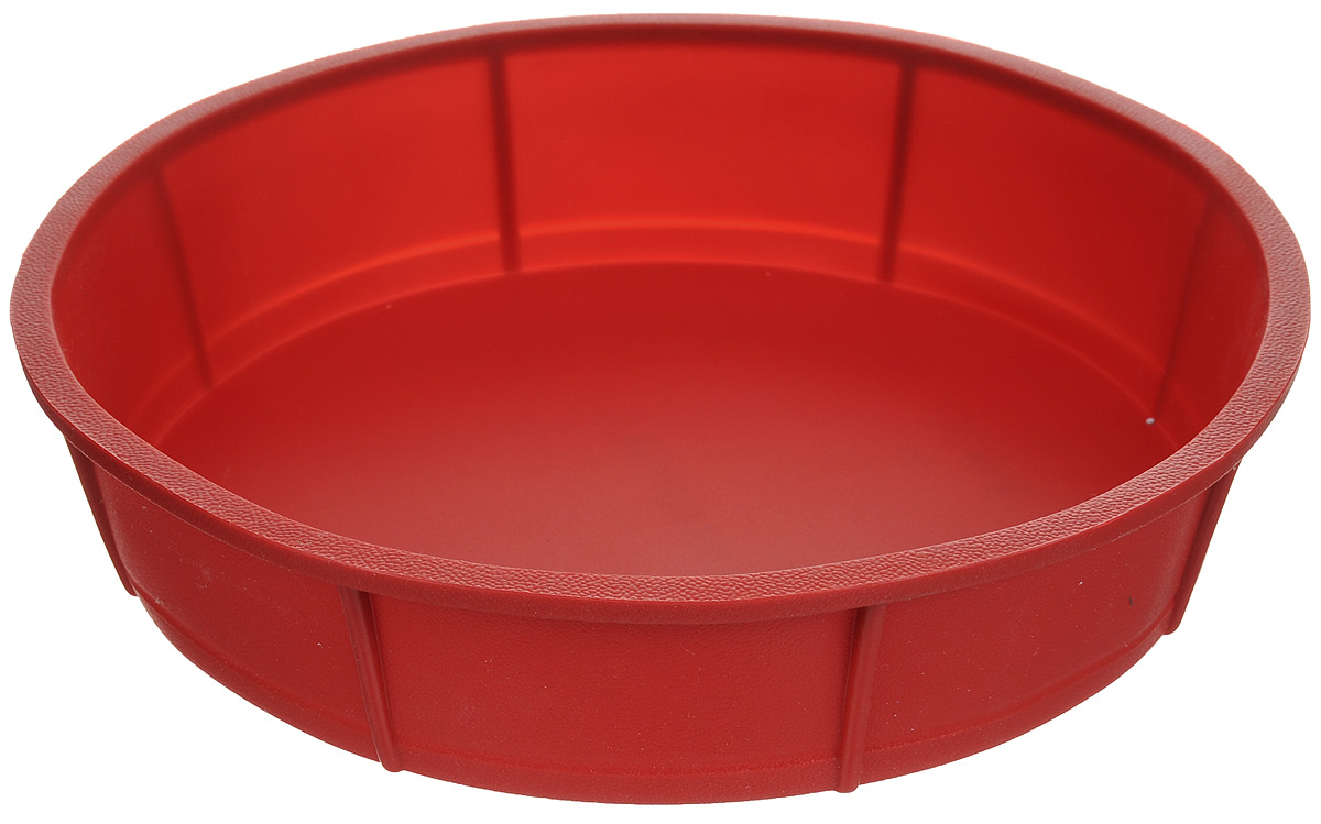 Форма для выпечки Tescoma Delicia, цвет: красный, диаметр 28 см. 62923654 009312Форма для выпечки Tescoma из термостойкого силикона идеальна для приготовления бисквитов, пирогов, сладких и соленых блюд. Нужно лишь залить в формочку тесто и поставить в духовку, и через некоторое время вы сможете порадовать своих близких оригинальной выпечкой.Особенности:- температурная стойкость от -40°C до +230°C, - замечательна для выпечки и приготовления всех стандартных блюд в духовке,- выпечка не пригорает, не пристает и легко извлекается из формы, - при обычном использовании практически не может быть повреждена, - не впитывает запахи, легко моется и абсолютно безопасна с точки зрения гигиены.Можно использовать в духовке, микроволновой печи, морозильной камере. Подходит для мытья в посудомоечной машине.Диаметр формы: 28 см. Высота стенки: 6 см.