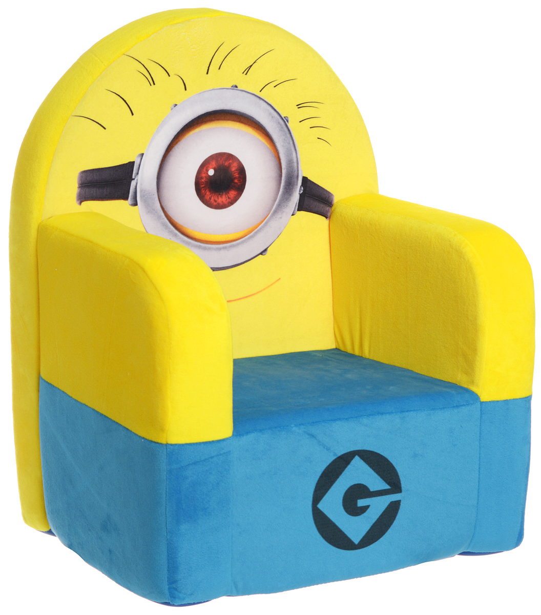 СмолТойс Мягкая игрушка Кресло Гадкий Я 53 смFS-91909Мягкая игрушка СмолТойс Кресло Гадкий Я - это забавная игрушка, на которой можно посидеть и поиграть!Кресло с гипоаллергенным наполнителем невероятно комфортное и стильное. Оно идеально впишется в интерьер детской комнаты. Устойчивость кресла обеспечивается широкой площадью соприкосновения с полом. Мягкое кресло не имеет жестких вставок, поэтому вы можете быть спокойны за безопасность вашего малыша. На кресле изображен главный персонаж мультфильма Гадкий Я.