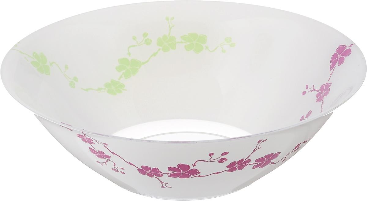 Салатник Luminarc Kashima Green, диаметр 27 см115610Салатник Luminarc Kashima Green выполнен из ударопрочного стекла и имеет классическую круглую форму. Он прекрасно впишется в интерьер вашей кухни и станет достойным дополнением к кухонному инвентарю. Салатник Luminarc Kashima Green подчеркнет прекрасный вкус хозяйки и станет отличным подарком. Диаметр салатника (по верхнему краю): 27 см.