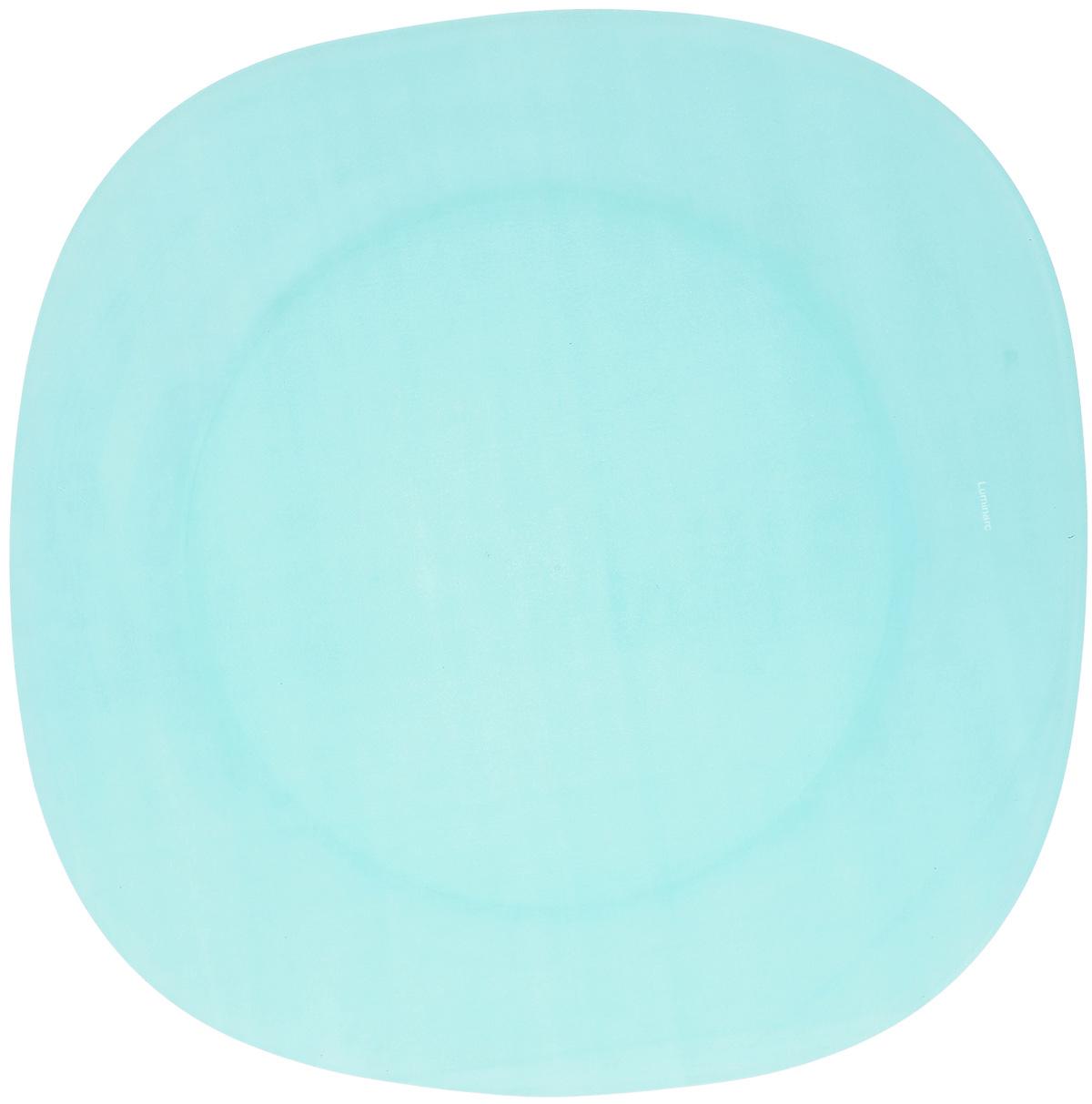 Тарелка обеденная Luminarc Colorama Blue, 25,5 х 25,5 см115510Обеденная тарелка Luminarc Colorama Blue, изготовленная из высококачественного стекла, имеет изысканный внешний вид. Яркий дизайн придется по вкусу и ценителям классики, и тем, кто предпочитает утонченность. Тарелка Luminarc Colorama Blue идеально подойдет для сервировки вторых блюд из птицы, рыбы, мяса или овощей, а также станет отличным подарком к любому празднику.Размер тарелки (по верхнему краю): 25,5 х 25,5 см.