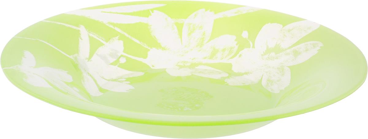 Тарелка глубокая Luminarc Cotton Flower, диаметр 21 см54 009312Глубокая тарелка Luminarc Cotton Flower выполнена из ударопрочного стекла и имеет классическую круглую форму. Она прекрасно впишется в интерьер вашей кухни и станет достойным дополнением к кухонному инвентарю. Тарелка Luminarc Cotton Flower подчеркнет прекрасный вкус хозяйки и станет отличным подарком. Диаметр тарелки (по верхнему краю): 21 см.