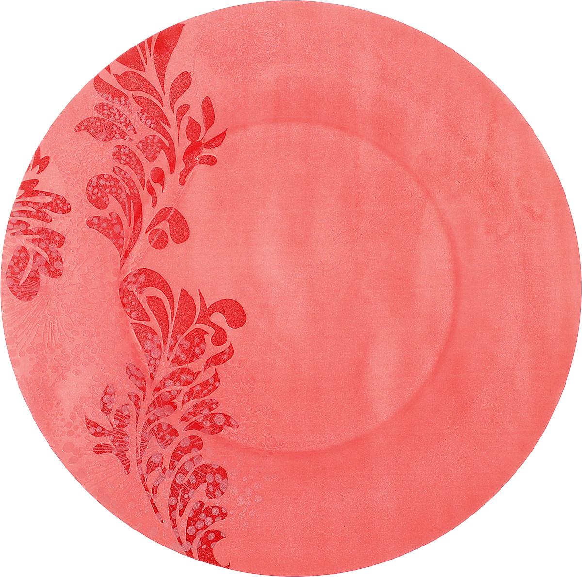 Тарелка обеденная Luminarc Piume Red, диаметр 25 см54 009312Обеденная тарелка Luminarc Piume Red, изготовленная из ударопрочного стекла, имеет изысканный внешний вид. Яркий дизайн придется по вкусу и ценителям классики, и тем, кто предпочитает утонченность. Тарелка Luminarc Piume Red идеально подойдет для сервировки вторых блюд из птицы, рыбы, мяса или овощей, а также станет отличным подарком к любому празднику.Диаметр тарелки (по верхнему краю): 25 см.
