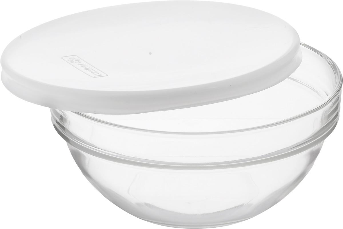 Салатник Luminarc Empilable, с крышкой, 14 смH1150Салатник Luminarc Empilable, изготовленный из высококачественного стекла, прекрасно впишется в интерьер вашей кухни и станет достойным дополнением к кухонному инвентарю. Изделие оснащено плотно прилегающей крышкой из пластика. Такой салатник не только украсит ваш кухонный стол и подчеркнет прекрасный вкус хозяйки, но и станет отличным подарком.Диаметр по верхнему краю: 14 см.