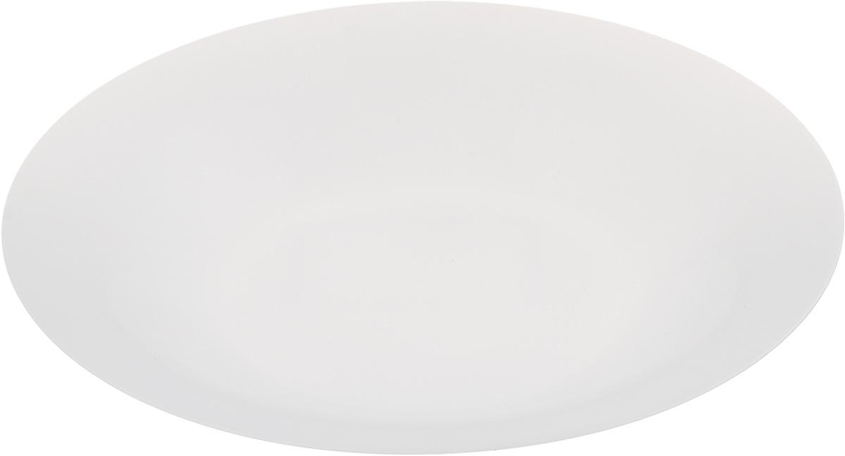 Тарелка глубокая Luminarc Olax, диаметр 21 см115010Глубокая тарелка Luminarc Olax выполнена из ударопрочного стекла и имеет классическую круглую форму. Она прекрасно впишется в интерьер вашей кухни и станет достойным дополнением к кухонному инвентарю. Тарелка Luminarc Olax подчеркнет прекрасный вкус хозяйки и станет отличным подарком. Диаметр тарелки (по верхнему краю): 21 см.