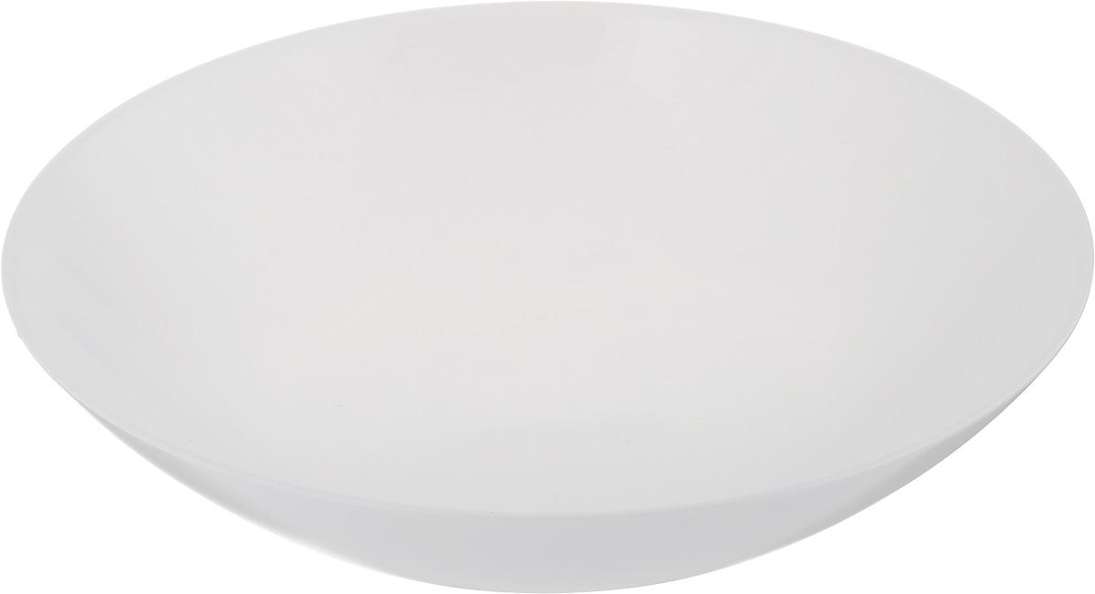 Тарелка глубокая Luminarc Diwali, диаметр 20 см115510Глубокая тарелка Luminarc Diwali выполнена из ударопрочного стекла. Изделие сочетает в себеизысканный дизайн с максимальной функциональностью. Она прекрасно впишется в интерьер вашей кухни и станет достойным дополнением к кухонному инвентарю. Тарелка Luminarc Diwali подчеркнет прекрасный вкус хозяйки и станет отличным подарком. Диаметр тарелки по верхнему краю: 20 см.