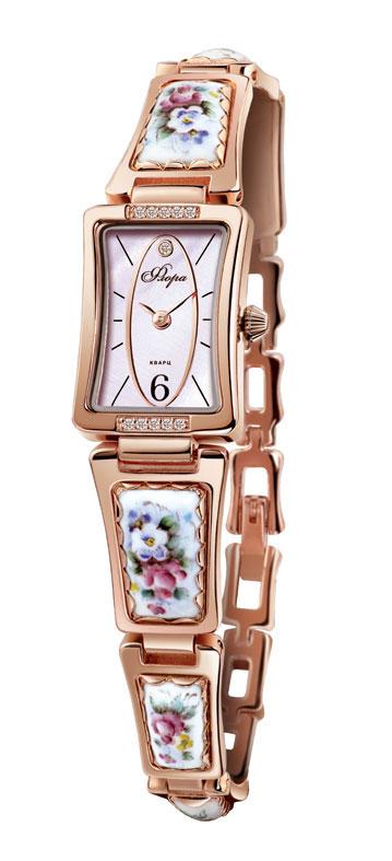 Zakazat.ru: Часы наручные женские Mikhail Moskvin Флора. Славянка, цвет: золотистый. 1142B8-B2