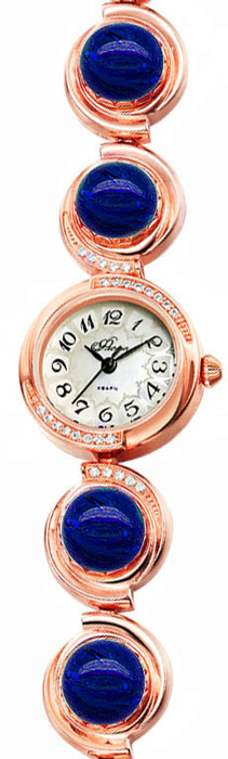 Zakazat.ru: Часы наручные женские Mikhail Moskvin Флора, цвет: золотистый, темно-синий. 1138B8B1