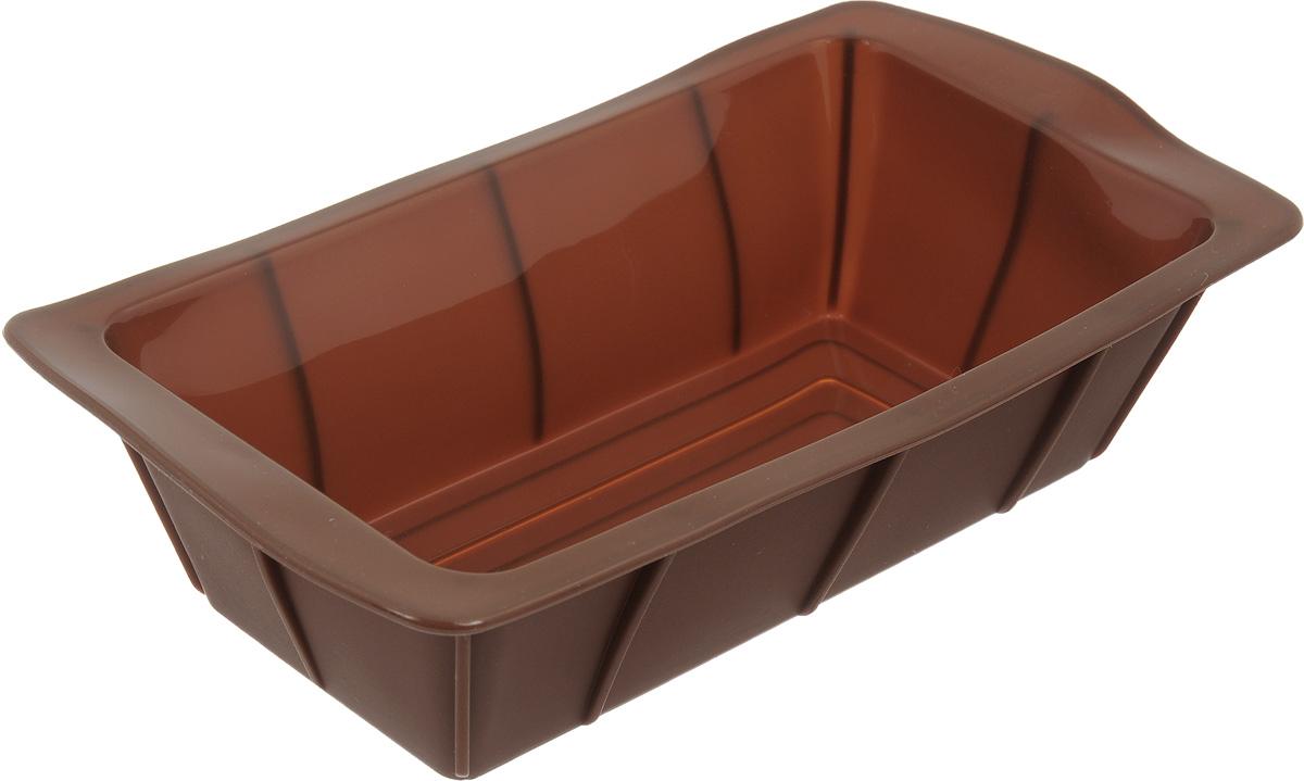 Форма для выпечки Calve, силиконовая, цвет: коричневый, 25 х 13,5 х 7,5 смFS-91909Форма для выпечки Calve Сердце прямоугольной формы изготовлена из высококачественного силикона. Стенки формы легко гнутся, что позволяет легко достать готовую выпечку и сохранить аккуратный внешний вид блюда. Изделия из силикона очень удобны в использовании: пища в них не пригорает и не прилипает к стенкам, форма легко моется. Приготовленное блюдо можно очень просто вытащить, просто перевернув форму, при этом внешний вид блюда не нарушится. Изделие обладает эластичными свойствами: складывается без изломов, восстанавливает свою первоначальную форму. Порадуйте своих родных и близких любимой выпечкой в необычном исполнении. Подходит для приготовления в микроволновой печи и духовом шкафу при нагревании до +230°С; для замораживания до -40°.Размер формы: 25 х 13,5 х 7,5 см.