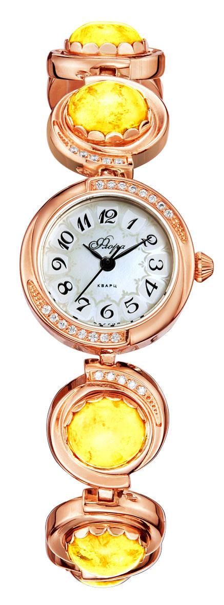 Часы наручные женские Mikhail Moskvin Флора, цвет: золотистый, желтый. 1138B8B1BM8434-58AEНаручные кварцевые часы Mikhail Moskvin выполнены из высококачественного металла с напылением ионами розового золота. Корпус оформлен вставками из страз. Фигурный браслет оформлен вставками из кошачьего глаза и дополнен надежной металлической застежкой. Часы оснащены минеральным, устойчивым к царапинам, стеклом с сапфировым напылением и задней крышкой из гипоаллергенной нержавеющей стали.