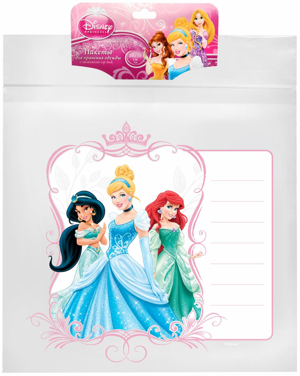 Пакет для хранения одежды Disney Принцессы, 38 x 38 смU210DFПакет Disney Принцессы, выполненный из плотного полиэтилена, предназначен для компактного хранения и перевозки одежды, постельных принадлежностей, мягких игрушек и прочего. Обеспечивает герметичную защиту вещей от влаги, пыли, моли и запаха. Пакет оснащен удобной ручкой для переноски. Возможно многократное использование пакета.