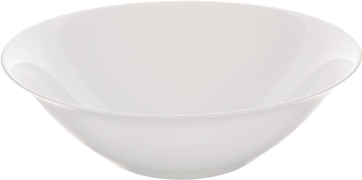 Салатник Luminarc Carine White, диаметр 27 см115510Салатник Luminarc Carine White выполнен из ударопрочного стекла. Яркий дизайн придется по вкусу и ценителям классики, и тем, кто предпочитает утонченность и изысканность. Салатник Luminarc Carine White идеально подойдет для сервировки стола и станет отличным подарком к любому празднику.Диаметр (по верхнему краю): 27 см.Высота: 9 см.