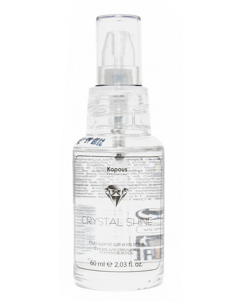 Kapous Professional Флюид для секущихся кончиков волос Crystal Shine 60 млFS-00897Флюид для секущихся кончиков волос «Сrystal shine» Kapous разглаживает и запаивает расщепленные концы, увлажняя пересушенные волосы, придает им эластичность, упругость и блеск. Защищает волосы от негативного воздействия окружающей среды и УФ лучей. Предотвращает образование секущихся концов. Одним из компонентов флюида являются силикон и льняное масло, которое содержит полиненасыщенные жирные кислоты Омега-3, которые улучшают состояние волос, бережно обволакивая поврежденные участки, защищая их и сохраняя естественный уровень увлажнения.
