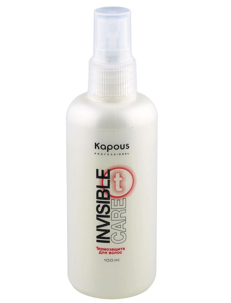 Kapous Professional Термозащита для волос «Invisible Care» 100 мл72523WDТермозащита для волос «Invisible Care» Kapous.Несмываемый спрей - защита, обеспечивает легкую фиксацию волос, сохраняя их естественное движение и не утяжеляя.Благодаря содержанию шелковичных протеинов и гидролизованным протеинам пшеницы придает объем и силу, поддерживает гидролипидный баланс, предотвращает выцветание окрашенных волос.Идеальное средство для бережного ухода за волосами во время теплового воздействия фена и выпрямляющих «утюжков».Подходит для всех типов волос для ежедневных укладок.Предотвращает статический эффект.Оптимальная мягкость и кондиционирование. Защита от влажности на 30% дольше.Подходит для ежедневных укладок. Результат: Оказывает кондиционирующее действие, придаёт гладкость и эластичность, выпрямляет вьющиеся волосы и сохраняет прическу до следующего мытья головы даже при высокой влажности воздуха.