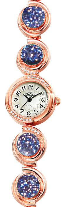 Часы наручные женские Mikhail Moskvin Флора, цвет: золотистый, темно-синий. 1138B8B1BM8434-58AEНаручные кварцевые часы Mikhail Moskvin выполнены из высококачественного металла с напылением ионами розового золота. Корпус оформлен вставками из страз. Браслет, выполненный в оригинальной форме и оформленный вставками из авантюрина, дополнен надежной металлической застежкой. Часы оснащены минеральным, устойчивым к царапинам, стеклом с сапфировым напылением и задней крышкой из гипоаллергенной нержавеющей стали.