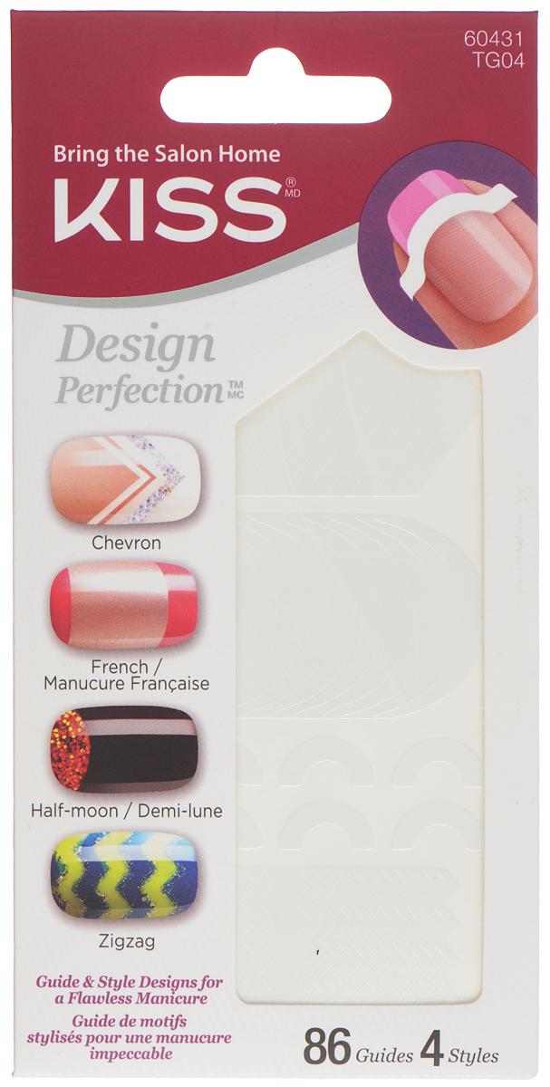 Kiss Трафареты для маникюра и педикюра 86 шт. Design Perfection Tip Guide