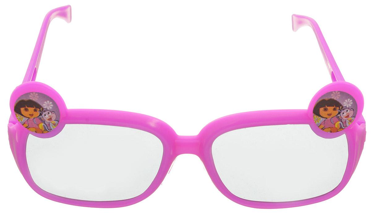 Веселая затея Очки солнцезащитные детские Даша-путешественница цвет розовыйINT-06501Очки солнцезащитные детские Веселая затея Даша-путешественница - это веселые очки, украшенные изображением Даши и обезьянки.Ультрамодный и полезный аксессуар для маленькой модницы. Их пластиковые линзы надежно защищают глаза от ультрафиолетовых лучей, особенно опасных для детских нежных хрусталиков. Удобные дужки комфортно прилегают к голове и почти не ощущаются.Уважаемые клиенты! Обращаем ваше внимание на незначительные изменения в дизайне товара, форма украшения может отличаться. Поставка осуществляется в зависимости от наличия на складе.