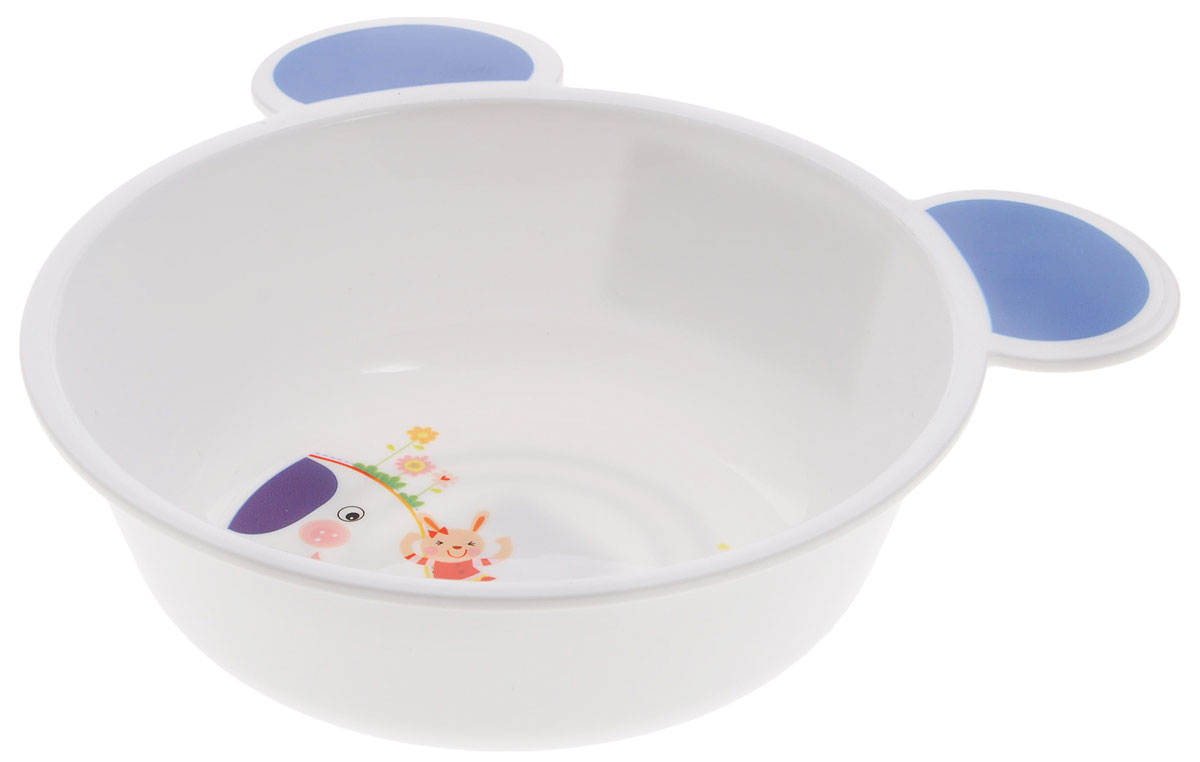 Canpol Babies Тарелка с ушками цвет белый синий диаметр 15 см4/415_белый, синий слонТарелка с ушками Canpol Babies, изготовленная из полипропилена, имеет необычную форму - с ушкамии, позволяющими удобно держать тарелку во время кормления, приготовления пищи и переноски. Красочное оформление тарелки привлечет внимание малыша и сделает прием пищи более приятным. тарелка оснащена антискользящим дном. Подходит для использования в СВЧ-печи.Объем: 440 мл.