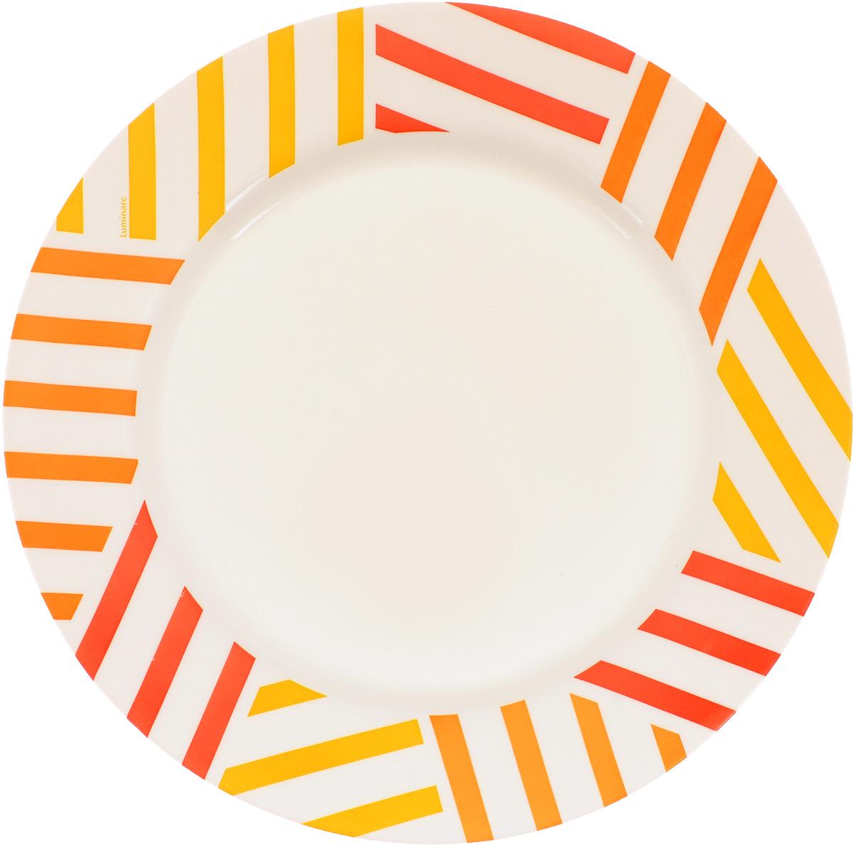 Тарелка Luminarc Balnea Sun, диаметр 26,5 см115510Тарелка Luminarc Balnea Sun, изготовленная из ударопрочного стекла, декорирована оригинальным изображением. Такая тарелка прекрасно подходит как для торжественных случаев, так и для повседневного использования. Идеальна для подачи десертов, пирожных, тортов и многого другого. Она прекрасно оформит стол и станет отличным дополнением к вашей коллекции кухонной посуды. Диаметр тарелки (по верхнему краю): 26,5 см. Высота тарелки: 2,5 см.