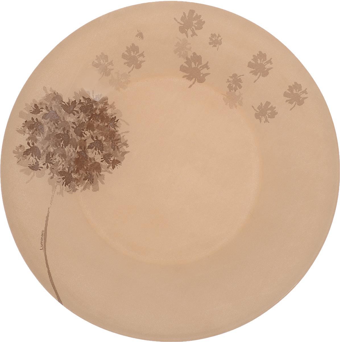 Тарелка десертная Luminarc Stella Chocolat, диаметр 19,5 см115510Десертная тарелка Luminarc Stella Chocolat, изготовленная из ударопрочного стекла, имеет изысканный внешний вид. Такая тарелка прекрасно подходит как для торжественных случаев, так и для повседневного использования. Идеальна для подачи десертов, пирожных, тортов и многого другого. Она прекрасно оформит стол и станет отличным дополнением к вашей коллекции кухонной посуды. Диаметр тарелки (по верхнему краю): 19,5 см. Высота тарелки: 1,7 см.