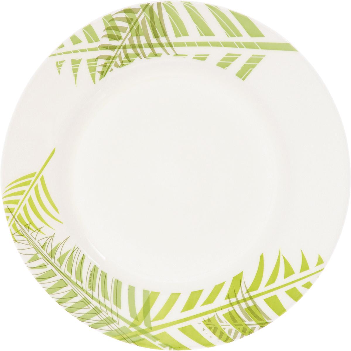 Тарелка десертная Luminarc Green Forest, диаметр 19 см115510Десертная тарелка Luminarc Green Forest, изготовленная из ударопрочного стекла, имеет изысканный внешний вид. Такая тарелка прекрасно подходит как для торжественных случаев, так и для повседневного использования. Идеальна для подачи десертов, пирожных, тортов и многого другого. Она прекрасно оформит стол и станет отличным дополнением к вашей коллекции кухонной посуды. Диаметр тарелки (по верхнему краю): 19 см. Высота тарелки: 1,5 см.