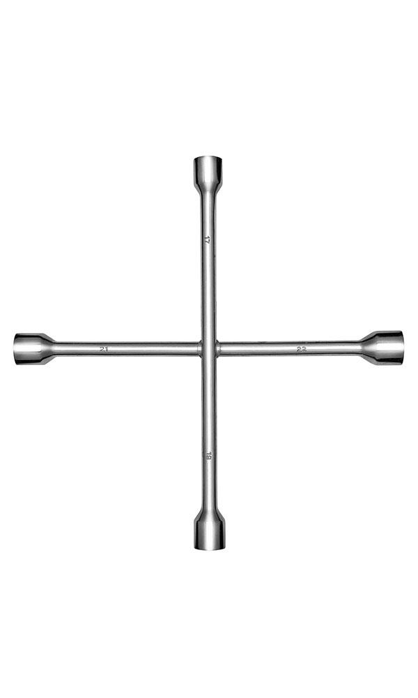 Ключ баллонный крестовой Kraft 17х19х21х22 Master КТ 70056098298123_черный- Материал: высококачественная углеродная сталь