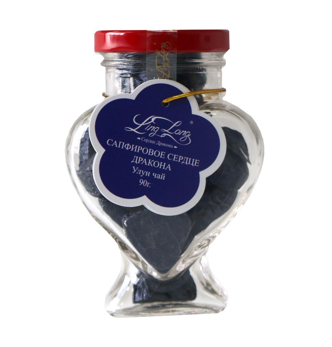 Ling Long Сапфировое сердце дракона листовой чай улун, 90 г (стеклянная банка)0120710Чай зелёный улун байховый китайский среднелистовой Ling Long Сапфировое сердце дракона. Спрессован в форме сердечек. Такой чай станет отличным подарком друзьям или близким.