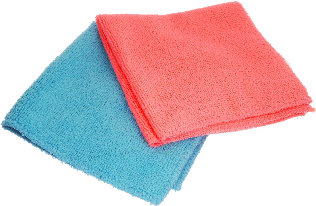 Салфетка для уборки Помощница из микрофибры, цвет: розовый, голубой, 30 х 30 см, 2 шт302807_голубойСалфетки из микрофибры Помощница изготовлены из микрофибры. Это великолепная гипоаллергенная ткань, изготовленная из тончайших полимерных микроволокон. Салфетки из микрофибры могут поглощать количество пыли и влаги, в 7 раз превышающее ее собственный вес. Многочисленные поры между микроволокнами, благодаря капиллярному эффекту, мгновенно впитывают воду, подобно губке. Благодаря мелким порам микроволокна, любые капельки, остающиеся на чистящей поверхности, очень быстро испаряются, и остается чистая дорожка без полос и разводов. В сухом виде при вытирании поверхности волокна микрофибры электризуются и притягивают к себе микробов, мельчайшие частицы пыли и грязи, удерживая их в своих микропорах. Рекомендации по уходу: - Ручная и машинная стирка при температуре не более 40°С, без использования хлора,- Не отбеливать, - Не гладить, - Не рекомендуется сушить на батареях.