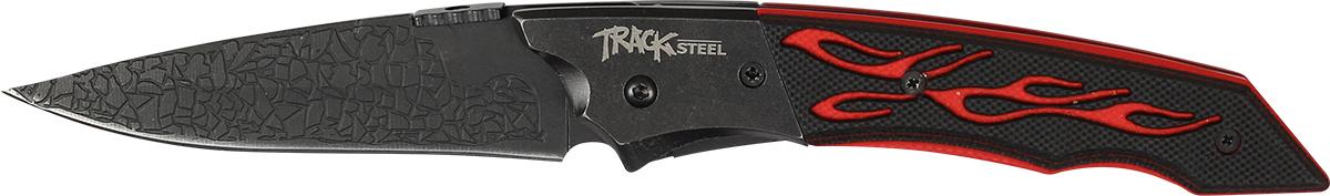 Нож складной Track Steel. 55421010.9713.CСкладной нож Track Steel всегда найдет себе применение на даче или в гараже, на рыбалке или охоте. Малые габариты делают его удобным при частой транспортировке. Лезвие выполнено из высококачественной нержавеющей стали. Изделие имеет удобную рукоятку. Нож снабжен прочным чехлом из нейлона.Длина клинка: 80 мм.Толщина клинка: 2,6 мм.Общая длина ножа: 200 мм.