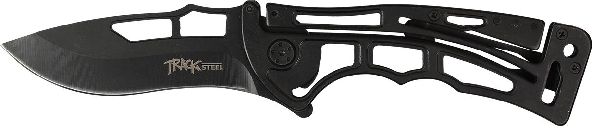 Нож складной Track Steel E510-301.3603.94Складной нож для ежедневного ношения (EDC) Длина клинка: 89 ммТолщина клинка: 2,6 ммОбщая длина ножа: 214 ммМатериал клинка: сталь 440AРукоять: стальНожны: нет