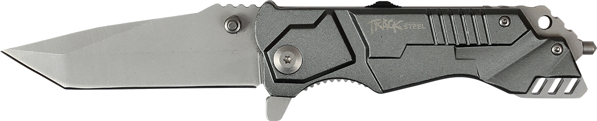 Нож складной Track Steel. 55461020.9623.CСкладной нож Track Steel всегда найдет себе применение на даче или в гараже, на рыбалке или охоте. Малые габариты делают его удобным при частой транспортировке. Лезвие выполнено из высококачественной нержавеющей стали. Изделие имеет удобную рукоятку. Нож снабжен прочным чехлом из нейлона.Длина клинка: 78 мм.Толщина клинка: 3,1 мм.Общая длина ножа: 200 мм.